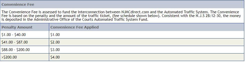 NJMCDirect portal fee
