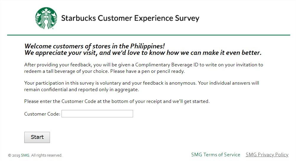 MyStarBucksVisit Survey